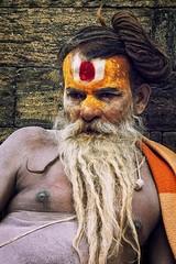 730 Holy Man - Sadhu II (Hrvoje Simich - gaZZda) Tags: man hair beard old wise holy sadhu hindu nepal asia nikon nikond750 nikkor283003556 gazzda hrvojesimich