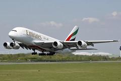 A6-EDI Emirates A380-861. Manchester 06/05/2018 (Tu154Dave) Tags: a6edi emirates dubai airbus a380 a380861 superjumbo man manchester airport aircraft uae