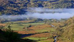 Misty Llyn Gwynant (mandysp8) Tags: wales water hills trees rocks landscape horizon sunrise mist eos canon 750d spring uk