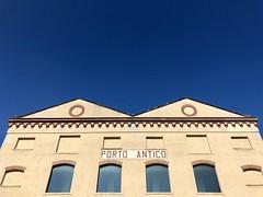 Blue is my favorite feeling (Andrea Vaghi) Tags: iphone iphonex antico porto italy genoa genova sky blue