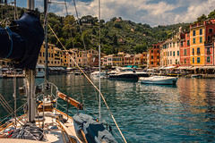 Portofino harbour.... (Dafydd Penguin) Tags: isa lei ship vessel yacht yachting sailboat sailing boat boating hallberg rassy rasmus harbour harbor port dock town village urban old buildings portofino liguria italy coast coasting coastal water sea harbourside leica m10 summicron 35mm f2 asph