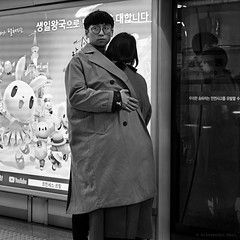 Seoul (ale neri) Tags: street bw aleneri metro people reflection asian korean seoul korea streetphotography blackandwhite alessandroneri