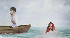 Part Of Your World (Jimcen Bagsik) Tags: art photography philippines dumaguetecity dumagetme photoshop adobephotoshop photomanipulation digitalart karenmaebustos karenbustos missdumaguete2015 missdumaguete ariel littlemermaid mermaid fantasy boat sea ocean water beach wave jimcenbagsik jimcen