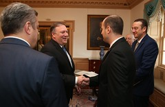Prime Minister of Georgia Meets US Secretary of State (GovernmentofGeorgia Official) Tags: mike pompeo giorgi kvirikashvili us secretary state prime minister georgia
