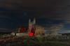 Recópolis. (Amparo Hervella) Tags: parquearqueológicoderecópolis guadalajara españa spain ruina visigodo roca cielo estrella nibe noche nocturna lightpainting paisaje largaexposición d7000 nikon nikond7000