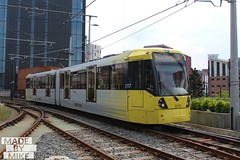 Metrolink 3117 (Mike McNiven) Tags: manchester metrolink tram lrv metro deansagtecastlefield victoria manchesterairport airport