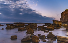Rocky Dawn Seascape (Merrillie) Tags: daybreak theskillion nature water terrigal nsw rocky sea clouds newsouthwales rocks earlymorning morning landscape centralcoast ocean australia sunrise waterscape coastal outdoors sky seascape dawn coast cloudy waves