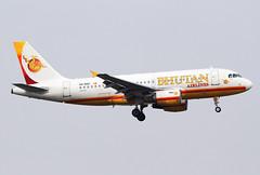 A5-BAC Bhutan Airlines A319 (twomphotos) Tags: plane spotting bkk vtbs rwy19r bestofspotting bhutan airlines airbus a319