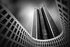 Tower 185 - Frankfurt (Carlos Malvar) Tags: architektur architecture frankfurt am main germany deutschland tower tower185 frankfurtammain bw sw schwarzweiss blackwhite longexposure