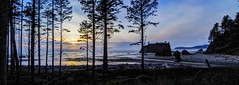 Ruby Beach Panorama Sunset (i8seattle) Tags: olympicnationalpark olympiccoast olympics pacificcoast pacificocean porttownsend rubybeach rialtobeach
