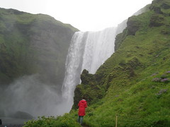 a waterfall in Iceland (VERUSHKA4) Tags: canon europe iceland water mountain nature amazing people girl red green landscape july summer verdure way flower fleur flora vue view drops travel river purple astoundingimage