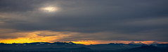 Sunrise with the three sisters (Tzacol) Tags: sunrise corvallis three sisters mountains orange grey gray clouds snow beautiful nature sony a7ii 90mm macro
