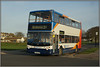 Stagecoach 18175 (Jason 87030) Tags: 34 birchington se dennis trident alx400 doubledecker southeast eastkent kent front sea red white blue orange 18175 stagoach sc buses transport busstop light sun 2018 april holiday uk england gx54dvu