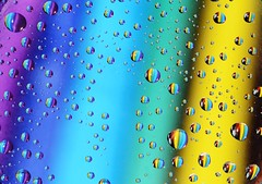Spring Rain- frame full of Colors (ksenijaJ / I'm tired ;)) Tags: macrorings drops colourful spring 7dwf filltheframe crazytuesdaytheme