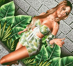 Tropical Heat (eloen.maerdrym) Tags: springflair spring eloensotherworld secondlife releases doux kiratattoo theavenue cazimi moncheri gd wowskins blackfair mons elephanteposes