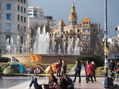 Plaça de Catalunya - Barcelona (tgrauros) Tags: barcelona catalunya cataluña catalonia catalogna catalonië catalogne katalonia katalonien katalánsko katalonija
