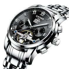 KINYUED J014 Stainless Steel Automatic Mechanical Watch (1250913) #Banggood (SuperDeals.BG) Tags: superdeals banggood jewelry watch kinyued j014 stainless steel automatic mechanical 1250913