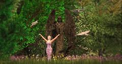 Feathers (Sannita_Cortes) Tags: glamaffair ikon lelutka maitreya pinkmagic poema swank truth wild beauty decorating decoration dressoutfits earring eyemakeup formal furniture furnituredecor garden home makeup posesprops secondlife sl styles virtualworld virtual virtualfashion angel wings