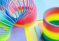 Closeup of rainbow spring toy background (rawpixel.com) Tags: ake rawpixelcc0 shoot shootphotofeed top freecc0 photo propertyrelease otherkeywords tags tagcc0 abstract amusement background bright childhood closeup coil color colored colorful enjoyment entertainment equipment flexibility flexible fun funky game kids leisure macro memories metal motion name object pattern plastic play rainbow recreation ring spectrum spiral spring springtoy stretch throwback toy vibrant wallpaper wire
