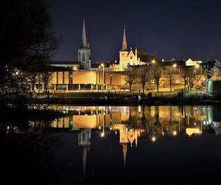 Enniskillen at night.
