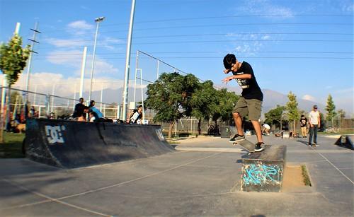 Skateboarding puente skate