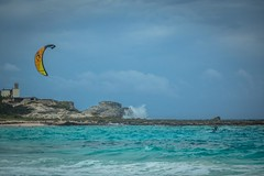 Andrew enjoying some more kiting at Compass Cay