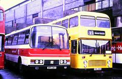 Slide 115-47 (Steve Guess) Tags: reading berks berkshire england gb uk bus station alder valley ecw leyland tiger bristol vrt coach wpd26y tpe155s