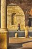 passeggiando la domenica mattina... (maurizio.s.) Tags: ombra shadow ascoli piceno people yellow hdr teatro ventidio basso morning arco arc marche