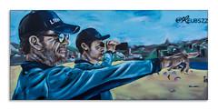 bondi beach street art (Greg Rohan) Tags: surflifesavers lifesavers bondibeach paintedstreetart streetwalls streetart urbanart urban d750 2018 nikon nikkor arte art artist artwork paint bondi nsw australia beach blue