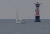 A new Hallberg-Rassy 44 at the Viken lighthouse (frankmh) Tags: sailing lighthouse viken hallbergrassy hallbergrassy44 yacht öresund sweden
