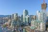 Downtown Vancouver, British Columbia (halsaxm) Tags: downtown vancouver britishcolumbia bc canada buildings apartments condos skyline cityscape bluesky construction crane water falsecreek