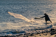 Fisherman in action (Picardo2009) Tags: lasflores maldonado uruguay balneario beach fisherman pescadores playa people travel picoftheday sunset fishing catching rocks daily life dailylife