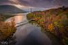 Fall Foliage @ Bear Mountain Bridge, NY (Dan NYNJ) Tags: hudsonvalley bluehour nikon bridge bearmountainbridgenewyork colorfulfoliage hudsonriver fall foliage