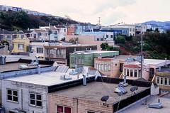 Excelsior District // San Francisco (bior) Tags: sanfrancisco leicam3 velvia fujifilmvelvia100f velvia100f summicron expiredfilm house home garage powerlines rowhouse excelsior excelsiordistrict