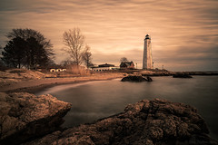 Lighthouse Work! (Gary Walters) Tags: lighthouse landscape shore water a7r ii gary walters seascape sony a7r2 lonexposure connecticut five mile point a7rii fivemilepointlighthouse garywalters moody overcast cloudy sel1635z