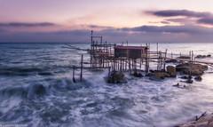 Punta Torre Alba (SDB79) Tags: alba abruzzo trabocco punta torre mare mareggiata