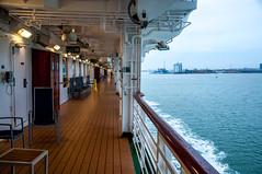 Decking Out (Tony Shertila) Tags: england atlantic cruise deck englishchanel europe people seaship southampton sunbathing transport vacation