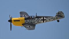 Messerschmitt Bf 109 (Seabird NZ) Tags: newzealand otago wanaka warbirds warbirdsoverwanaka airshow plane aircraft nikond810a sigma120300mmf28 teleconverter dxophotolab fighter messerschmitt bf109 me109