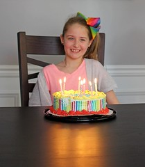 Something Sweet (anneescott) Tags: cake girl candles birthday 52in2018challenge