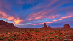 Monument Valley sunset clouds (NettyA) Tags: 2017 america arizona monumentvalley navajotribalpark northamerica sonya7r us usa rock sunset travel clouds themittens