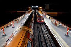 Train arrives at Theydon Bois (Luke Agbaimoni (last rounds)) Tags: london train trains night tube metro underground rail