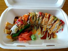 Rainbow Roll (knightbefore_99) Tags: food lunch work vancouver kingsway burnaby tasty best awesome rainbow roll asian japan japanese sushi oyama takeout takeaway art salmon tamago tuna tako eel avocado wasabi mayo