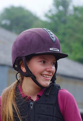 My eldest Abbey, with a tear in her eye as she looks back over the jump course.... (favmark1) Tags: abbey daughter tear jump jumpcompetition winner win kent whiteleaf jumping
