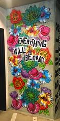 Everything Will Be Okay by Beth Myrick (wiredforlego) Tags: graffiti mural streetart urbanart aerosolart publicart portland oregon pdx stencil bethmyrick yeahrightokay
