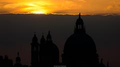 Wall of clouds (Nicola Pezzoli) Tags: italia venezia venice carnevale canals canali italy travel wall clouds basilica zoom sunset orange