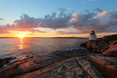 Castle Hill Light Sunset (russ david) Tags: castle hill light newport rhode island june 2017 lighthouse narragansett bay ri ocean drive sunset