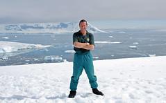Posing in Antarctica (trphotoguy) Tags: antarctica man snow ocean naturalist