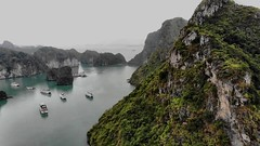 Sky View @ Halong Bay (melvhsc100) Tags: drone djimavicair halongbayskyview vietnam beautifulscenery seascape mountain crystalwater vacation awesomescene