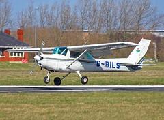G-BILS Cessna 152 (SteveDHall) Tags: aircraft airport aviation airfield aerodrome aeroplane airplane lightaircraft generalaviation ga 2018 blackpool blackpoolairport gbils cessna152 cessna c152