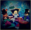 Tea Party Trouble (LegoKlyph) Tags: lego custom alice tea madhater mad cslewis story march hare doormouse book adventure lookingglass